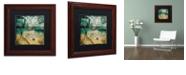 "Trademark Global Color Bakery 'Ocean Clouds I' Matted Framed Art, 11"" x 11"""