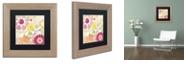"Trademark Global Color Bakery 'Esperanza Ii' Matted Framed Art, 11"" x 11"""