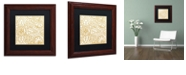 "Trademark Global Color Bakery 'Dulce Ii' Matted Framed Art, 11"" x 11"""