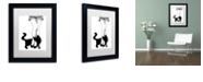 "Trademark Global Color Bakery 'Black Cat' Matted Framed Art, 11"" x 14"""