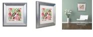 """Trademark Global Color Bakery 'Woodlands Christmas I' Matted Framed Art, 11"""" x 11"""""""