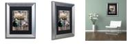 """Trademark Global Color Bakery 'Art Nouveau Zodiac Libra' Matted Framed Art, 11"""" x 14"""""""
