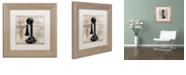 """Trademark Global Color Bakery 'Call Waiting I' Matted Framed Art, 11"""" x 11"""""""