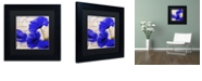 """Trademark Global Color Bakery 'Coquelicots Bleues I' Matted Framed Art, 11"""" x 11"""""""