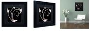 "Trademark Global Color Bakery 'Daring Deco Iii' Matted Framed Art, 11"" x 11"""