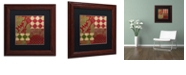 "Trademark Global Color Bakery 'Merry Christmas Patchwork Ii' Matted Framed Art, 11"" x 11"""