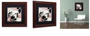 """Trademark Global Color Bakery 'Manifesto With Coral' Matted Framed Art, 11"""" x 11"""""""