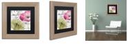 "Trademark Global Color Bakery 'Fleurs De France Iv' Matted Framed Art, 11"" x 11"""