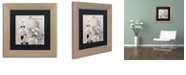 "Trademark Global Color Bakery 'Flowering Herbs Ii' Matted Framed Art, 11"" x 11"""