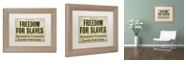 "Trademark Global Color Bakery 'Emancipation' Matted Framed Art, 11"" x 14"""