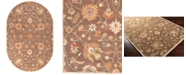 Surya Caesar CAE-1086 Dark Brown 6' x 9' Oval Area Rug