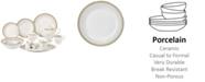 Lorren Home Trends Aria 57-PC Dinnerware Set, Service for 8