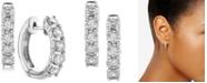 Macy's Diamond Hoop Earrings (2 ct. t.w.) in 14k White Gold