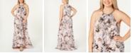 Calvin Klein Plus Size Printed Halter Gown