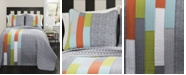 Lush Decor Shelly Stripe  3-Pc Set Full/Queen Quilt Set