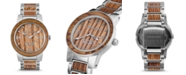 Original Grain Mens Reclaimed Craft Beer Barrel Wood, The Brewmaster, Stainless Steel 47mm Watch