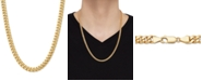 """Italian Gold Curb Link 24"""" Chain Necklace in 10k Gold"""