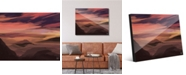 """Creative Gallery Watercolor Mountains - Orange Abstract Landscape 16"""" x 20"""" Acrylic Wall Art Print"""
