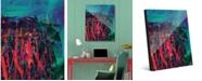 "Creative Gallery Nightcrawlers Beta Abstract 20"" x 24"" Acrylic Wall Art Print"