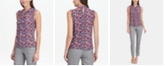 Tommy Hilfiger Floral-Print Knot-Neck Top, Created for Macy's