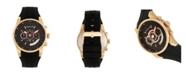 Morphic Quartz M72 Series, MPH7203, Black/Gold Chronograph Silicone Watch 43MM