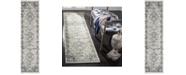 Safavieh Madison Light Grey and Blue 2' x 8' Runner Area Rug