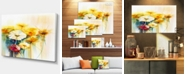 "Design Art Designart Bunch Of White Yellow Flowers Large Floral Canvas Art Print - 32"" X 16"""