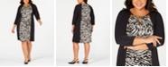 JM Collection Plus & Petite Plus Size Printed Triple-Keyhole Dress, Created for Macy's