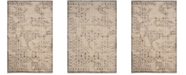 "Safavieh Brilliance Cream and Gray 6'7"" x 9'2"" Area Rug"