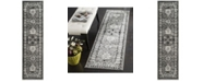 "Safavieh Vintage Hamadan Grey and Black 2'2"" x 8' Runner Area Rug"