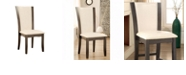 Benzara Contemporary Side Chair with White PU - Set Of 2