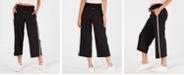 Calvin Klein Striped Wide-Leg Capri Pants