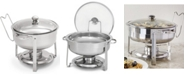 Gibson Oster Sangerfield 6 Piece 4.5 Quart Round Chafing Dish Set