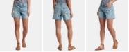 Lucky Brand Cotton Printed Distressed Boyfriend Shorts
