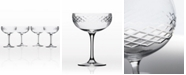 Rolf Glass Diamond Coupe Champagne Saucer - Set Of 4