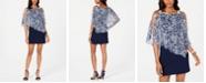 MSK Petite Overlay Animal-Print Sheath Dress
