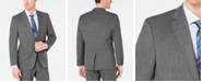 Chaps Men's Classic-Fit Stretch Wrinkle-Resistant Gray Sharkskin Suit Jacket