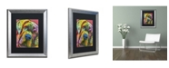 "Trademark Global Dean Russo 'Mastiff' Matted Framed Art - 20"" x 16"" x 0.5"""