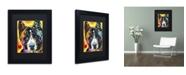 "Trademark Global Dean Russo 'Akita' Matted Framed Art - 11"" x 14"" x 0.5"""