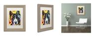 "Trademark Global Dean Russo 'Akita' Matted Framed Art - 14"" x 11"" x 0.5"""