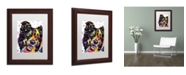 "Trademark Global Dean Russo 'Border Collie' Matted Framed Art - 14"" x 11"" x 0.5"""