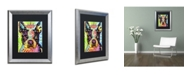"""Trademark Global Dean Russo 'Boston Terrier Crowned' Matted Framed Art - 20"""" x 16"""" x 0.5"""""""
