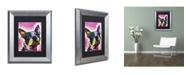 "Trademark Global Dean Russo 'Boston Terrier' Matted Framed Art - 14"" x 11"" x 0.5"""