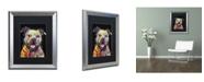 "Trademark Global Dean Russo 'Beware of Pit Bulls' Matted Framed Art - 20"" x 16"" x 0.5"""