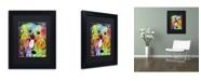 """Trademark Global Dean Russo 'Shih Tzu' Matted Framed Art - 11"""" x 14"""" x 0.5"""""""