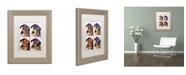"""Trademark Global Dean Russo '4 Danes' Matted Framed Art - 14"""" x 11"""" x 0.5"""""""