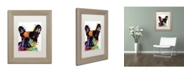 "Trademark Global Dean Russo 'French Bulldog' Matted Framed Art - 14"" x 11"" x 0.5"""