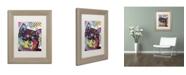 "Trademark Global Dean Russo 'Shiba Inu' Matted Framed Art - 14"" x 11"" x 0.5"""