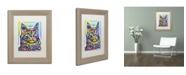 """Trademark Global Dean Russo 'Angora' Matted Framed Art - 14"""" x 11"""" x 0.5"""""""