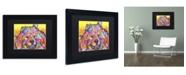 """Trademark Global Dean Russo 'Benzi' Matted Framed Art - 11"""" x 14"""" x 0.5"""""""